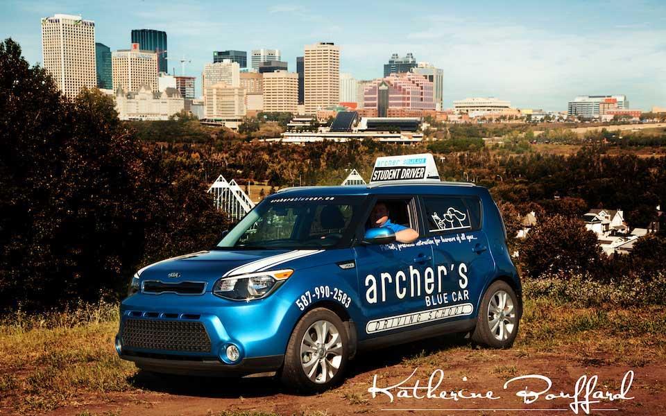 Edmonton Driving School car, Archer's Blue Car, Affordable training